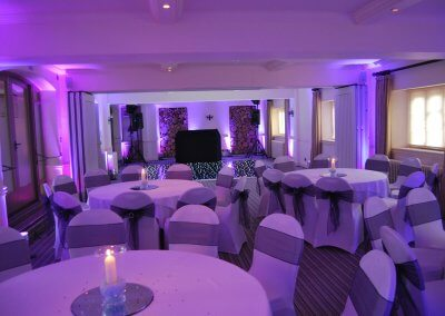 Black LED floor with uplighting to match theme (1)