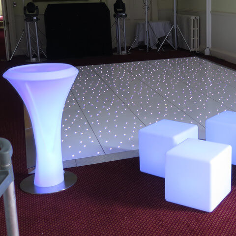 LED Posuer Table Hire Gloucester