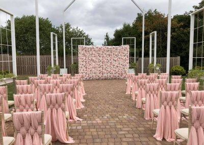 Flower Wall for Wedding Ceremony.