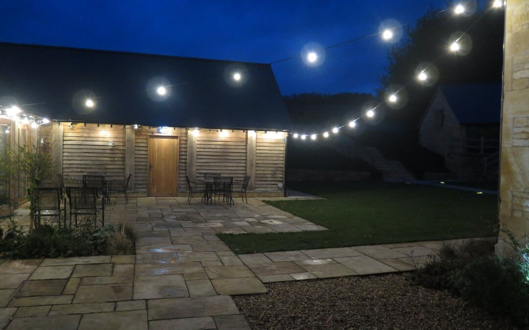 Festoon Lighting at the Barn at Upcote