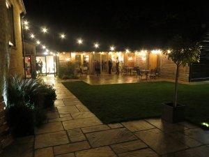 Outdoor lighting for Upcote Barn, Cheltenham