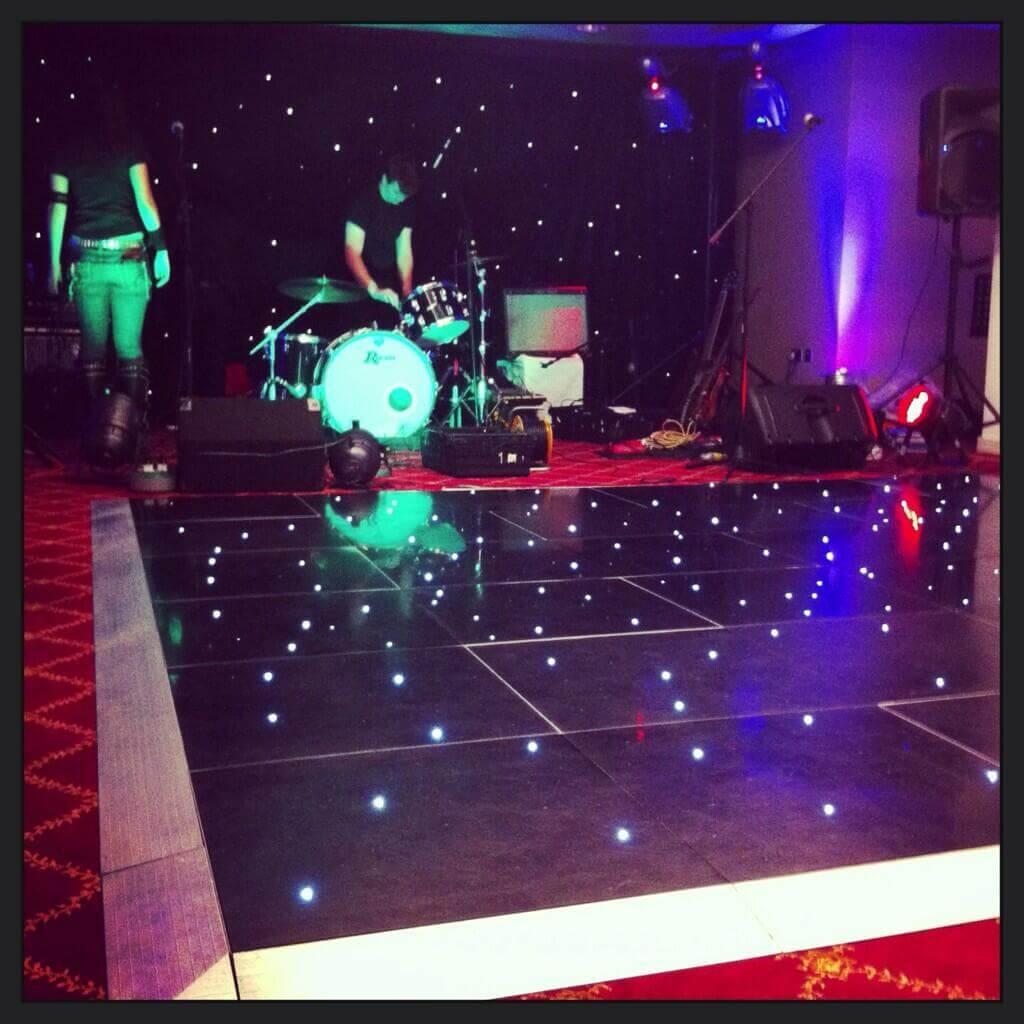 Black LED Dancefloor Hire Gloucestershire