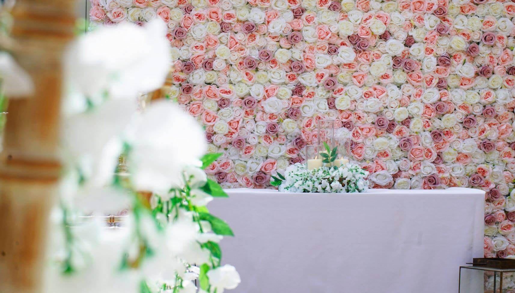 Wedding Ceremony Flower Wall