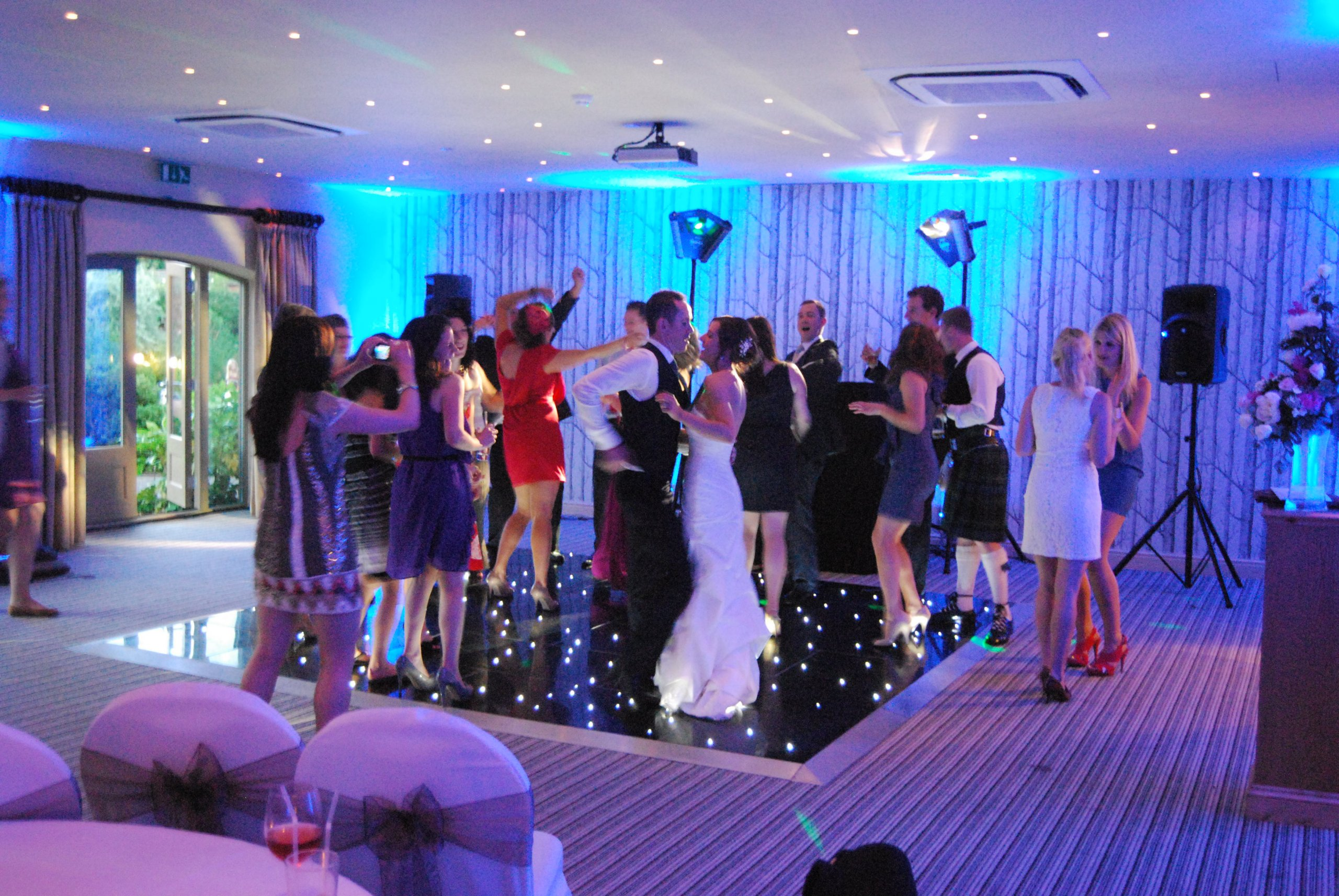 Black Starlight Dancefloor Hire Gloucestershire