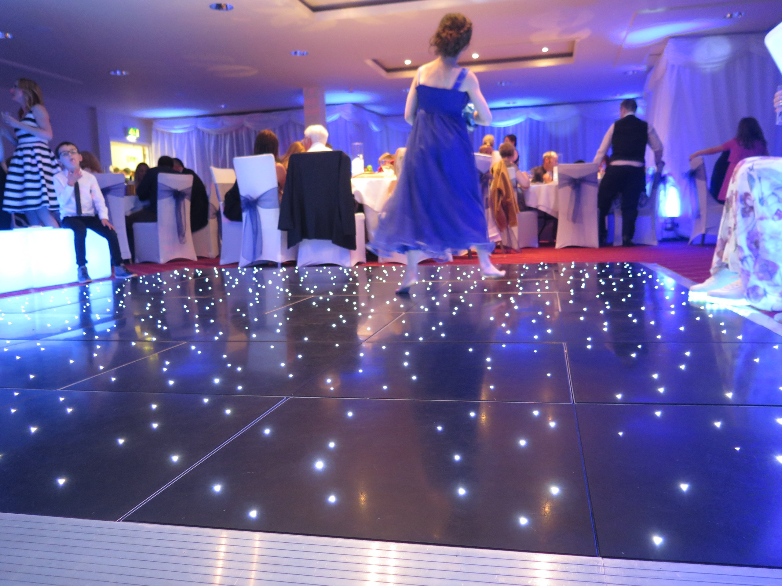 Black LED Dancefloor Hire Gloucestershire