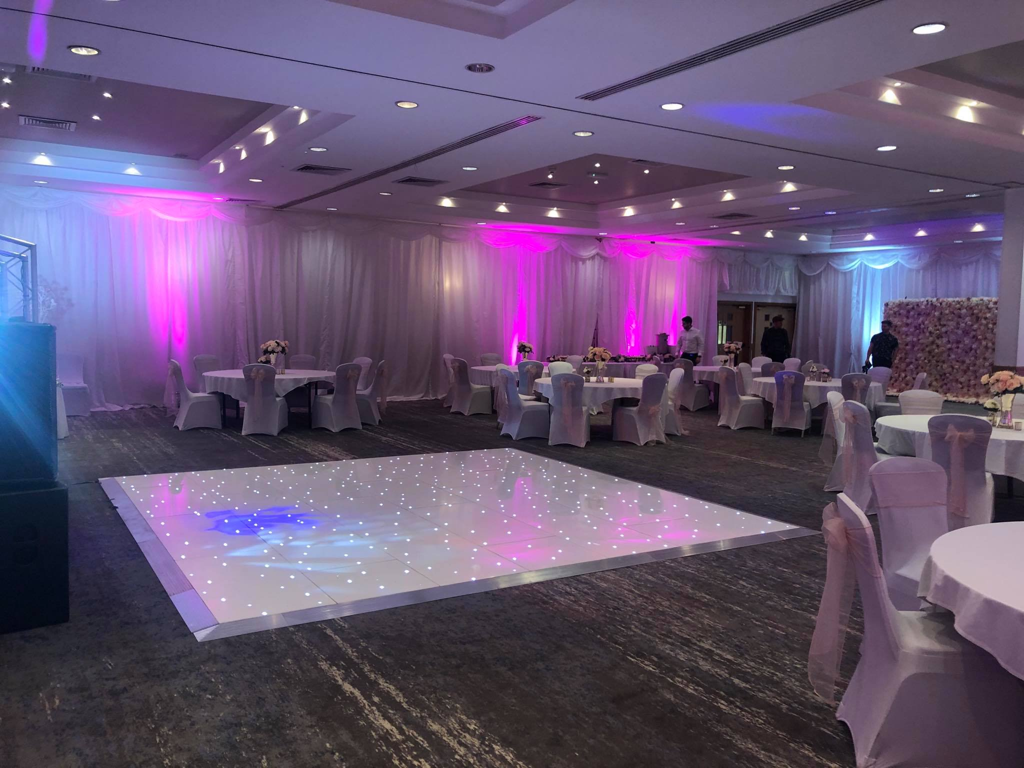 White Light Up Dancefloor Rental